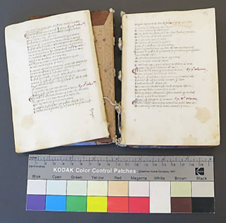 Aristotle's Auctoritates (manuscript ca. 1450) before restoration