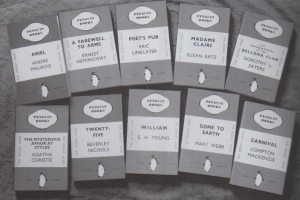 "The first ten Penguins. From Stevenson: ""Book Makers"", 2010"