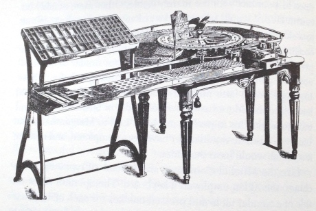 The Alden Typesetting and Distribution machine