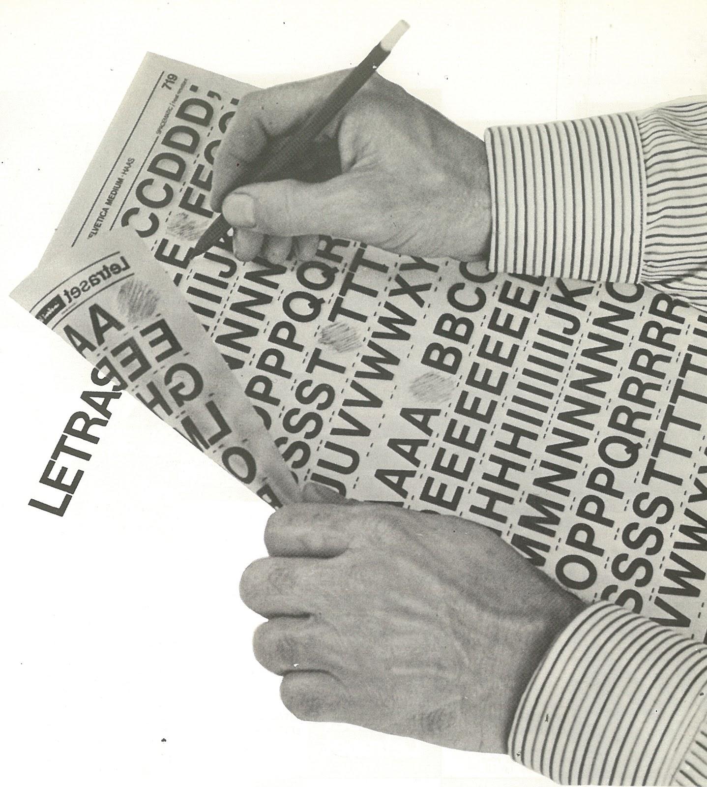 Letraset Buchstaben