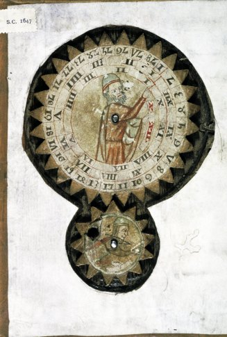 Cog-wheel. Oxford, Bodleian Library, Digby MS 46 (14th century) – Source
