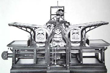Koenig's reciprocating steam press